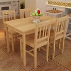 #bNew Wooden Dining Pine Table with 4 Chairs Dining Room Furniture Set 4 Models