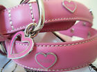NEW COACH PINK ORCHID OPEN HEART & GROMMETS XS SMALL MEDIUM DOG COLLAR XS S M