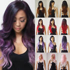 Ombre Full Wig Lady Girls Costume Synthetic Hair Wig Heat Resistant 150 Denisty