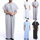 Muslim Mens Saudi Thobe Galabeya Party Robe Dishdasha Arabic Kaftan Church Dress