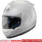 "Arai Chaser V ""Diamond White"" Was £349.99 - Now £249.99   (28% OFF!)"