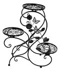 3 Tier Metal Garden Plant Stand Flower Pot Display Rack Holder Home Decoration