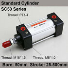 SC50*25/50/75/100 Standard Air Pneumatic Cylinders 50mm Bore 25/50/75/100 Stroke