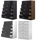 Gloss Fronted 5 Drawer Chest of Drawers Avail in 4 Colours - REFLECT Bedroom