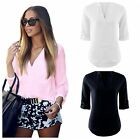 New Summer Casual Women's Ladies Office Long Sleeve T-Shirt Loose Tops Blouse