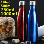Water Flask Stainless Steel Double Wall Vacuum Insulated Bottle Sport 350-1000ML