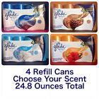 Glade Automatic Spray Air Freshener Refill 4 Ct Cans Various Scents 6.2 oz Each