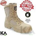 Texas Steer Mens Kamaal 2 Tactical Military Work Boot sand Army shoes NEW