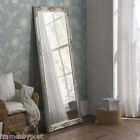 """Silver or White Florence Vintage Shabby Chic Leaner Wall Floor Mirror 64"""" x 28"""""""