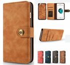 For iPhone 6s 7 Plus Luxury Wallet Case Leather Flip Removable Protective Cover