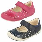 Girls Clarks Leather Mary Jane First Walking Shoes - Softly Lou
