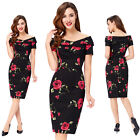 Hot! Retro Women's Summer Ruched Slim Bodycon Evening Party Cocktail Short Dress