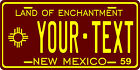 New Mexico 1959 License Plate Personalized Custom Auto Bike Motorcycle Moped