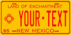 New Mexico 1965 License Plate Personalized Custom Auto Bike Motorcycle Moped