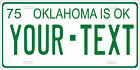 Oklahoma 1975 License Plate Personalized Custom Auto Bike Motorcycle Moped
