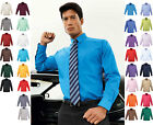 Mens Long Sleeve Chest Pocket Shirt Smart Casual Business Work Office Formal