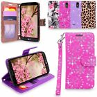 LG G Stylo 3 / Stylus 3 LS777 Leather Wallet Protective Case Pouch Stand Cover
