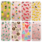Pattern Clear Ultra Thin TPU GEL Transparent Case Cover Skin for iPhone 6 6S