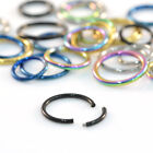 316L Surgical Steel BLACK GOLD Segment Ring Lip Nose Eyebrow Belly Nipple Ear