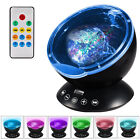 12LED 7 Color Mini Remote Control Ocean Wave Music Player Projector Night Light