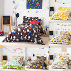 Childrens Single Size Duvet Quilt Cover Set & Pillowcase Kids Boys Girls Bedding