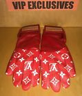 LOUIS VUITTON LV x SUPREME RED Baseball Gloves RAREST ITEM IN THE COLLECTION