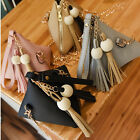 Women PU Leather Mini Tassel Shoulder Bag Handbag Messenger Satchel Bags Purse