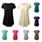 WOMEN'S FASHION ROUND NECK SOLID TOP CASUAL LOOSE SUMMER T-SHIRT DRESS FABULOUS