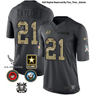 NEW Sean Taylor Washington Redskins Grey Salute to Service Military Camo Jersey