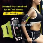 "Universal Silicone Sports Armband Gym Jogging Holster Cover for 4-6"" Cell Phone"