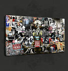 URBAN GRAFFITI BANKSY COLLAGE WALL ART CANVAS PRINT PICTURE READY TO HANG