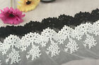 1 Yard Embroidered Tulle Lace Trim Edge Mesh Net Wedding Dress Sewing DIY Craft