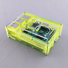 For Raspberry Pi 3B / 2B / B+ 9 Layer Acrylic Shell Case Box W/ Cooling Fan Hole