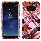 For Samsung Galaxy S8 Oak-Hunting Camouflage TUFF Hybrid Protective Case Pink