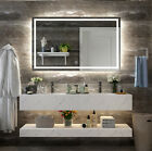 Led Backlit Lighted Bathroom Mirror Defogger Square Lights Touch Light Mirror