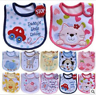 Baby 3Layer Cotton Bibs Waterproof Saliva Towel Cartoon Bib Feeding Care Bandana