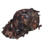 Men Camouflage Bionic Leaf Hat Camping Hunting Archery Boonie Baseball Cap EB