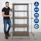 Garage Shelving Unit 5 Tier EXTRA Heavy-Duty 180x90x45cm Racking Shelf Storage <br/> FREE MALLET &amp; CONNECTORS / 265kg Per Shelf / SolidFrame