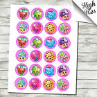 "24X SHOPKINS 1.5"" ROUND EDIBLE CUPCAKE TOPPERS"