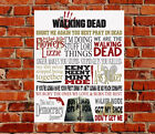 The Walking Dead TV Show Quotes METAL SIGN Birthday Gift Daryl Rick Carol