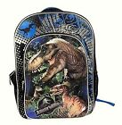 "JURASSIC WORLD PARK Boys 16"" Full-Size Backpack w/ Optional Insulated Lunch Box"