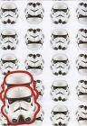 STAR WARS STORMTROOPER 2 SHEETS OF GIFT WRAPPING PAPER &2 GIFT TAGS 1ST P&P