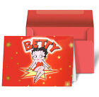 Betty Boop Star Red Kick Greeting Card Lenticular 3D #BB-203-GC# $6.21 CAD