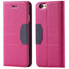 Pink High Quality PU leather flip wallet case for Apple Iphone 6 6S