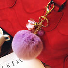 New+Brand+Rabbit+Fur+Ball+Pom+Poms+Cell+Phone+Car+Keychain+Pendant+bag+Key+Ring