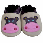 Free shipping Newborn Toddle Soft Sole Leather Baby Shoes Hippo Beige 0-5years