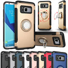 Ring Car Holder Shockproof Heavy Case Cover For Samsung Galaxy S7 edge S8 Plus