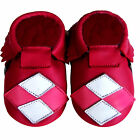 Freeshipping Newborn Crib Soft Sole Leather Baby Shoes Mocassin Quaderat0-2years