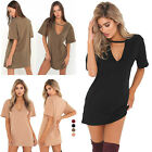 Party Evening Women's  Dress Short Sleeve Short-sleeved Casual Dress Cotton