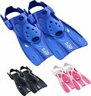 Tusa Strap Snorkel Fins Flippers  - Short Blade Max Performance - Easy Travel